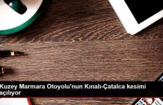 Kuzey Marmara Otoyolu'nun Kınalı-Çatalca kesimi...