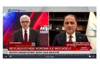 BAŞKAN ÇALIK, KRT TV'DE CANLI YAYINA KATILDI