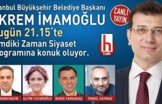 Ekrem İmamoğlu İstanbul'daki mücadeleyi anlatacak