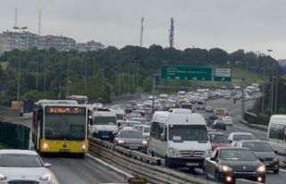 İstanbul trafiğinde yoğunluk
