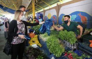 Büyükçekmece pazarlarında çevreci uygulama