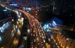 Beylikdüzü Ambarlı liman yolunda trafik sorunu