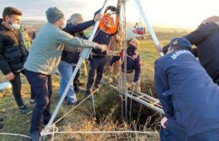 Çatalca'da bir kişi 30 metrelik kuyuya düştü