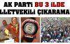 AK Parti 3 ilde vekil çıkaramadı