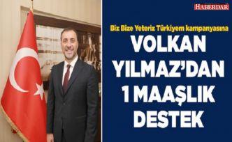 Volkan Yılmaz'dan Biz Bize Yeteriz Türkiyem kampanyasına bir maaşlık destek