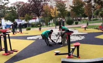 Küçükçekmece'de parkta terör örgütü sembollerini andıran görsellerle ilgili soruşturma