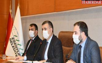 Meclis üyelerinden farkındalık maskesi
