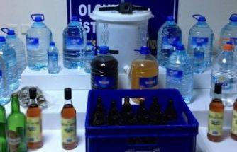 147 litre sahte içki ele geçirildi