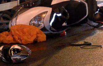 Büyükçekmece'de iki TIR'ın arasında kalan motosikletli öldü