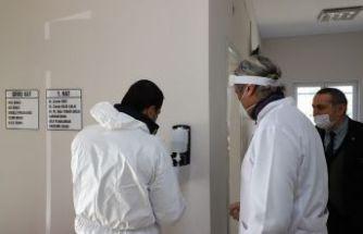 Büyükçekmece'de sağlık ocaklarına dezenfektan makinesi monte edildi