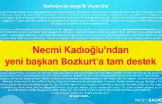 Esenyurt eski belediye başkanı Kadıoğlu'ndan yeni başkan Bozkurt'a tam destek