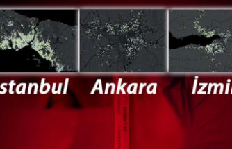 İstanbul, Ankara ve İzmir'de, corona virüs salgınında en riskli ilçeler
