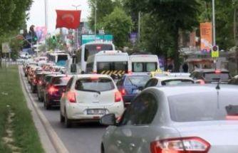 Yasak sonrası İstanbul'da trafik