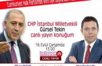 Mehmet Mert'in canlı yayın konuğu CHP İstanbul Milletvekili Gürsel Tekin