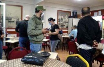 Avcılar'da kahvehanede oyun oynayan 24 kişiye 3 bin 180'er TL ceza