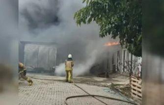 Büyükçekmece'de gecekondu yangını: 1 kadın yaralandı