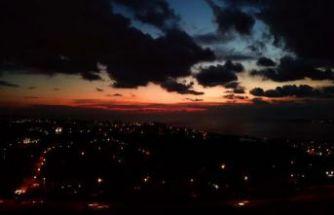 Büyükçekmece'de gün batımında görsel şölen