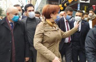 İYİ Parti Genel Başkanı Meral Akşener Beylikdüzü'ndeydi
