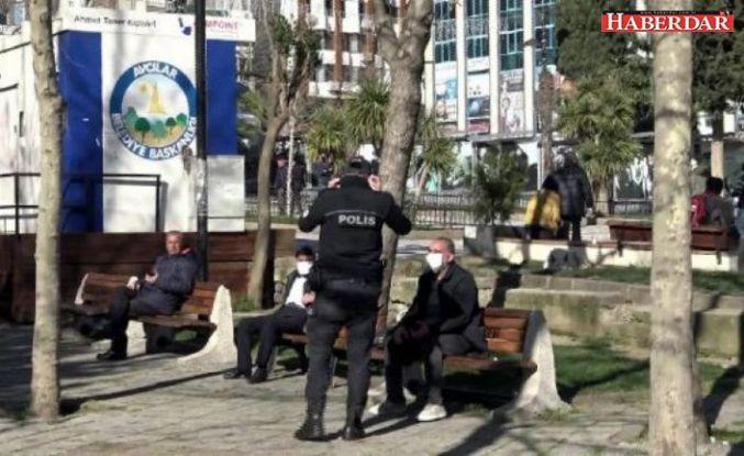 Avcılar'daki parkta oturma tutkusu... Polis uzaklaştırıyor, yeniden geliyorlar