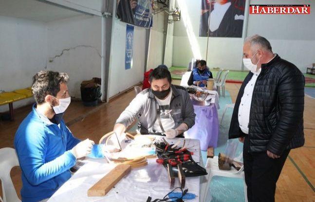 """Çatalca'da Sağlık Çalışanlarına Destek için """"SİPERLİKLİ MASKE"""" Hazırlanıyor"""