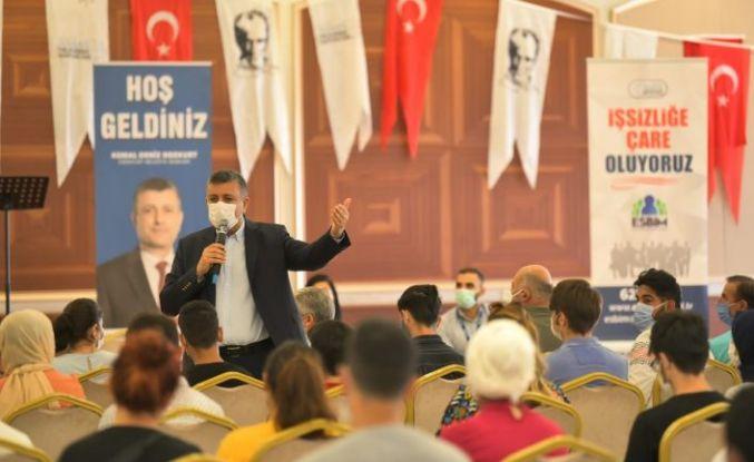 Başkan Bozkurt:Hedefimiz çalışmak isteyen herkese iş bulmak