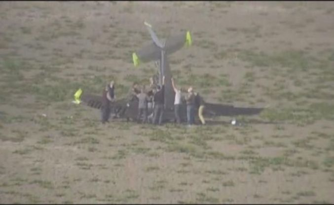 Büyükçekmece'de AYJET'e ait eğitim uçağı düştü!