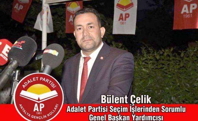 Adalet Partisi Genel Başkan Yardımcısı Bülent Çelik'ten YENİ YIL mesajı....