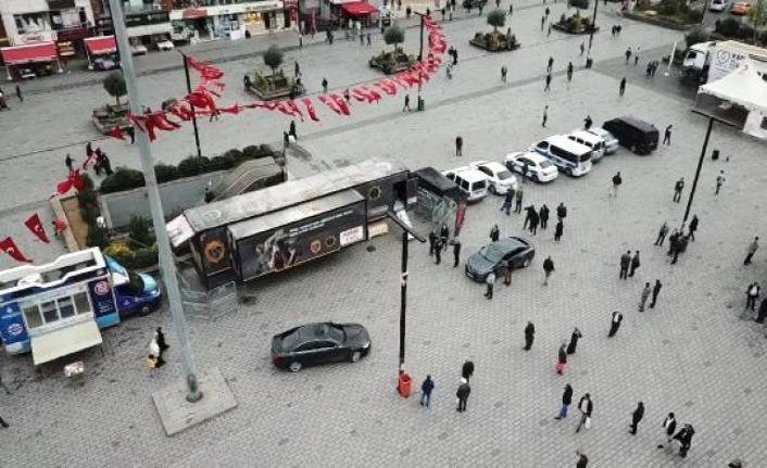 'Narko TIR' Esenyurt Meydanı'nda