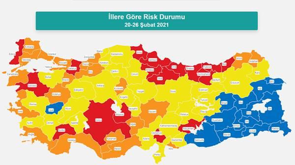 Risk haritası ortaya çıktı: İşte kırmızıya dönen o iller